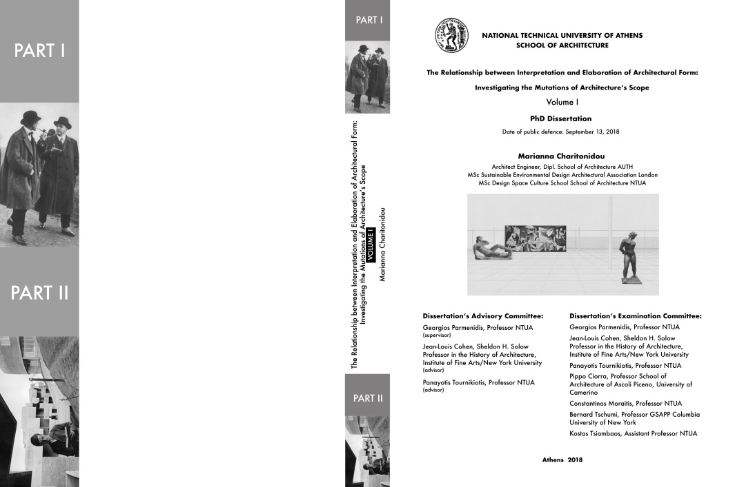 cover volume one_PhD thesis Marianna Charitonidou